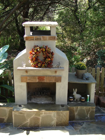 Newberry Landscape Outdoor Fireplace